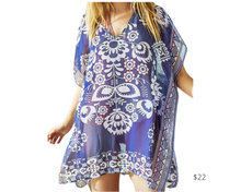 Load image into Gallery viewer, https://www.cupshe.com/collections/cover-up-1/products/navy-blue-floral-print-cover-up?variant=17142781149274&gclid=CjwKCAjwlbr8BRA0EiwAnt4MTsLbyU5Up9sN9TbZ2507Rl9Tcb5ARRFdG419jKJ8PpPfQeJ-BVlKsRoC_M0QAvD_BwE