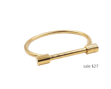 Load image into Gallery viewer, https://www.kinsleyarmelle.com/products/bar-collection-gold-bracelet?gclid=EAIaIQobChMI8IfBpczN6gIVUNbACh13MweUEAQYCSABEgJ9-PD_BwE
