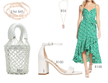 Load image into Gallery viewer, Rectangle Shape Green Maxi Dress