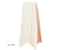 Load image into Gallery viewer, https://www.express.com/clothing/women/high-waisted-pleated-color-block-midi-skirt/pro/07739556/color/Neutral%20Print/