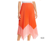 Load image into Gallery viewer, https://www.bloomingdales.com/shop/product/french-connection-ali-pleated-two-tone-midi-skirt?ID=3690026&CategoryID=2910#fn=ppp%3Dundefined%26sp%3DNULL%26rId%3DNULL%26spc%3D50%26cm_kws%3Dneon%26spp%3D9%26rsid%3Dundefined%26smp%3DexactMultiMatch