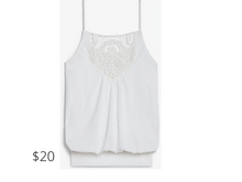 Load image into Gallery viewer, https://www.express.com/clothing/women/banded-lace-front-cami/pro/06417296/color/White/