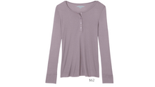 Load image into Gallery viewer, https://tommyjohn.com/collections/womens-lounge-henley/?color=shark