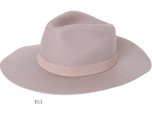 Load image into Gallery viewer, https://www.lulus.com/products/river-taupe-wool-fedora-hat/1277156.html