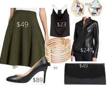 Load image into Gallery viewer, Inverted Triangle Shape Green Skirt