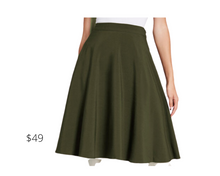 Load image into Gallery viewer, https://www.modcloth.com/shop/bottoms/just-this-sway-midi-skirt-in-olive/156571.html#product-thumbnail-1