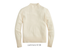 Load image into Gallery viewer, https://www.jcrew.com/p/womens_category/sweaters/pullover/cashmere-mockneck-sweater/AD349?color_name=hthr-muslin