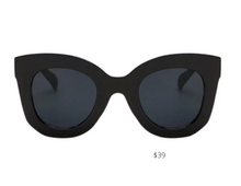 Load image into Gallery viewer, https://shadyladyeyewear.com/collections/eyewear/products/kate-black