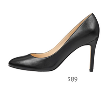 Load image into Gallery viewer, https://ninewest.com/products/dylan-round-toe-pumps-in-black-leather
