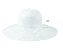 Load image into Gallery viewer, https://www.zappos.com/p/san-diego-hat-company-rbl299-crushable-ribbon-floppy-hat-white/product/7843611/color/14