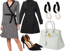 Load image into Gallery viewer, Rectangle Houndstooth Dress