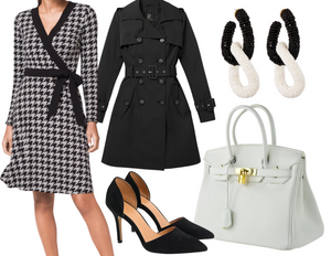 Rectangle Houndstooth Dress