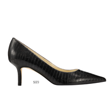 Load image into Gallery viewer, https://ninewest.com/products/arlene-pointy-toe-pumps-in-black-lizard-print