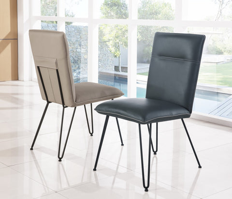 Cobalt and Taupe Dining Chairs