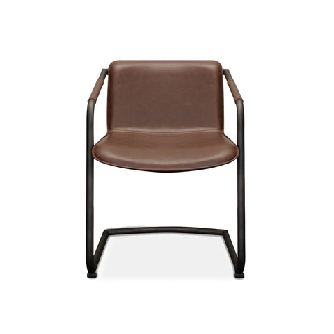 modern faux leather dining chair with arms