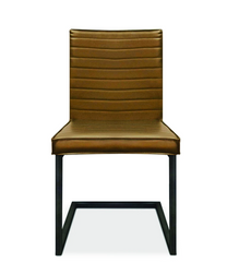Ribbed Seat and Back faux leather in black