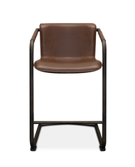 modern faux leather stool with arms