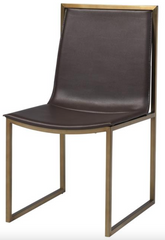 Gold and Brown Modern Dining Chair