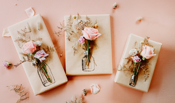 Valentine's Floral Gift Wrapping