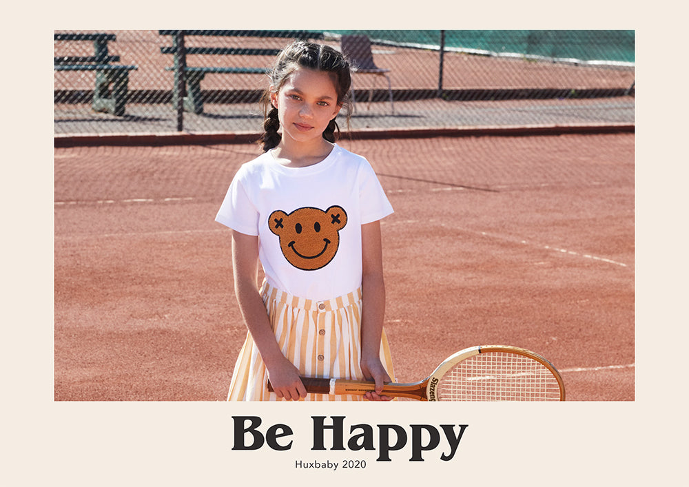 Huxbaby look book for new collection titled Be Happy. A gorgeous range of clothes for babies and children.