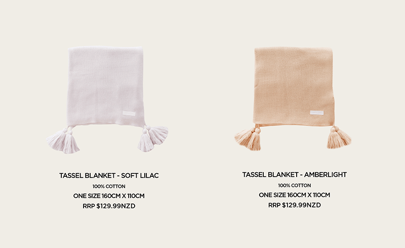 The most beautiful cotton knit blankets from the new Jamie Kay Honeydew range.