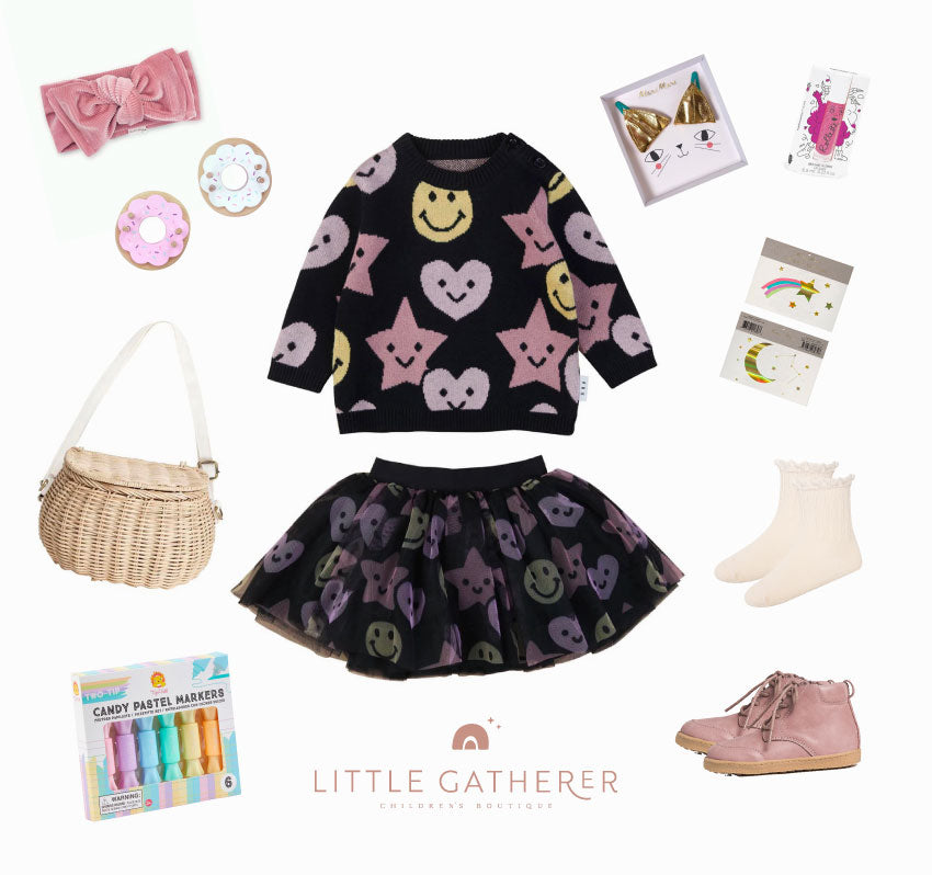 Halloween inspired outfit for your little girl featuring Huxbaby, Olli Ella, Pretty Brave, Meri Meri and lots more.