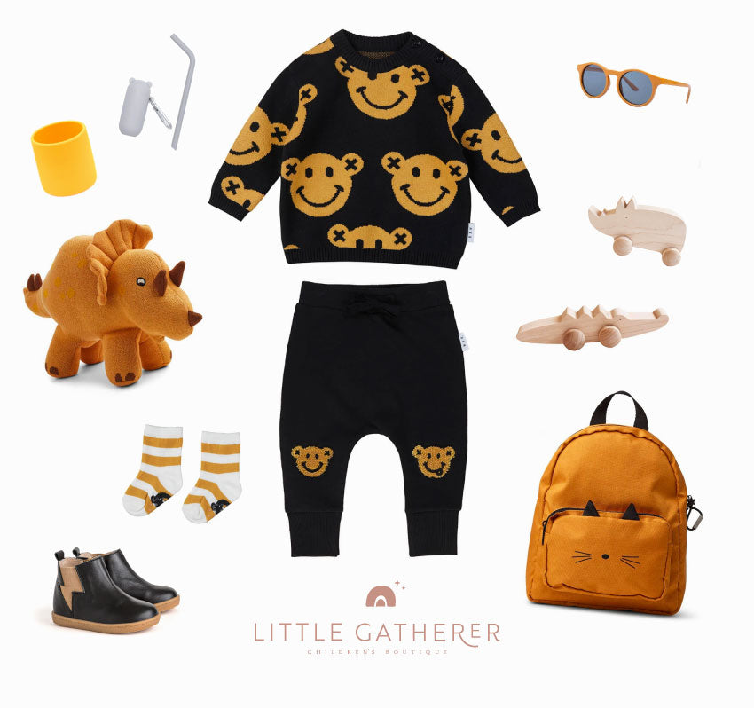 Halloween inspired outfit for little boys featuring Huxbaby, Liewood, Pretty Brave and lots more!