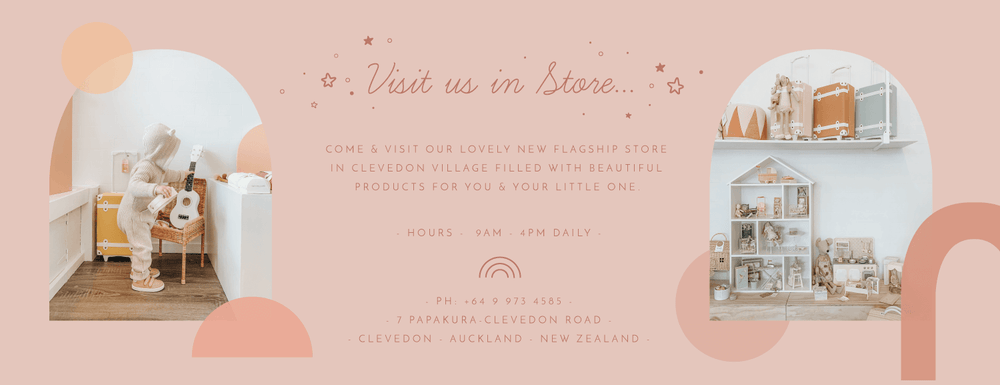Come and visit us in store in our new Little Gatherer Flagship store in Clevedon, Auckland, New Zealand. The perfect spot to shop for both babies and children with beautiful products sourced locally and from overseas.