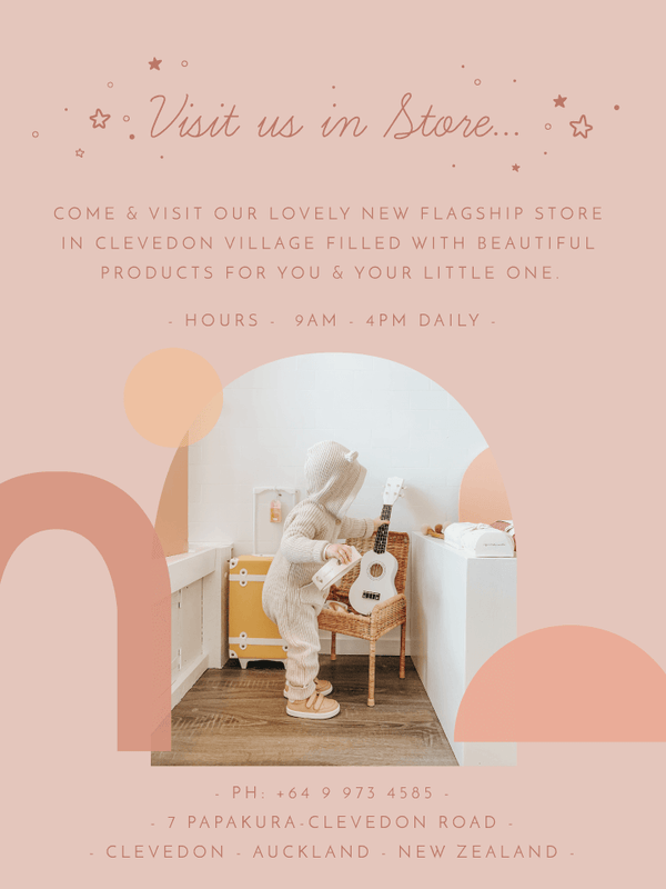 Shop with us in store in our new Little Gatherer Flagship store in Clevedon, Auckland, New Zealand. The perfect spot to shop for both babies and children with beautiful products sourced locally and from overseas.
