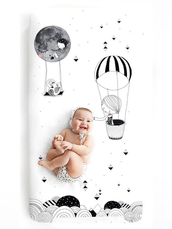 Fitted Cot Sheet - Frieda & The Balloon
