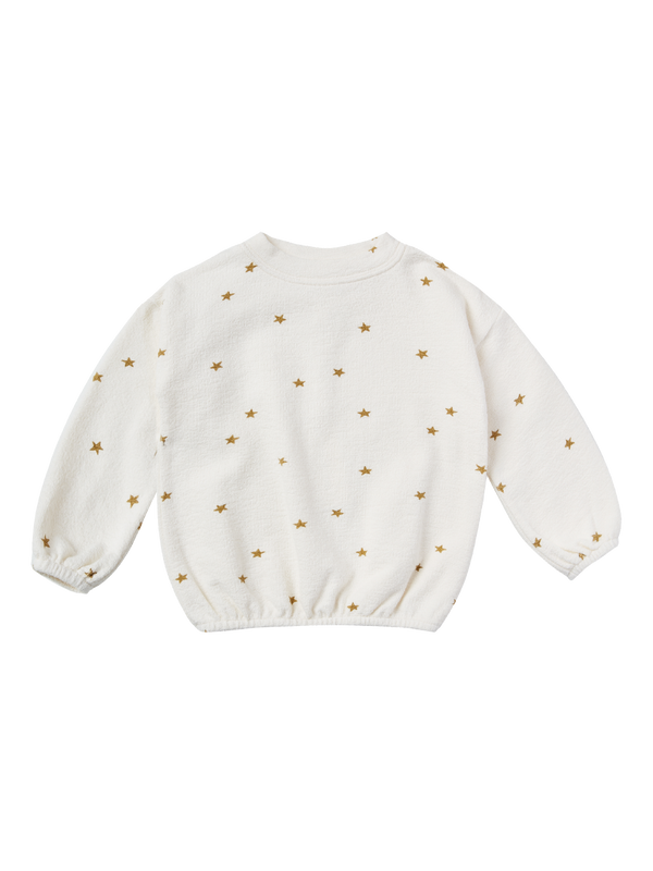 Rylee + Cru Star Slouchy Pullover - Ivory