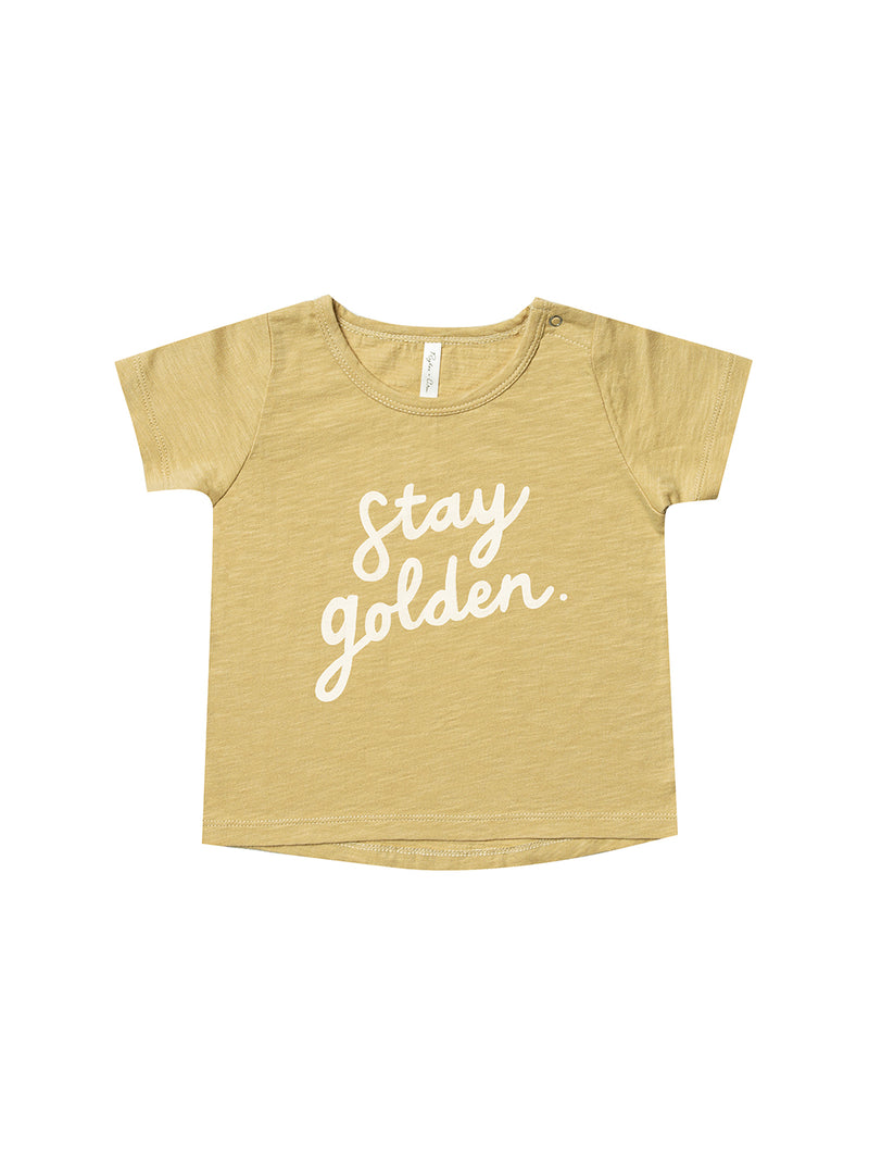 Rylee + Cru Basic Baby Tee - Stay Golden