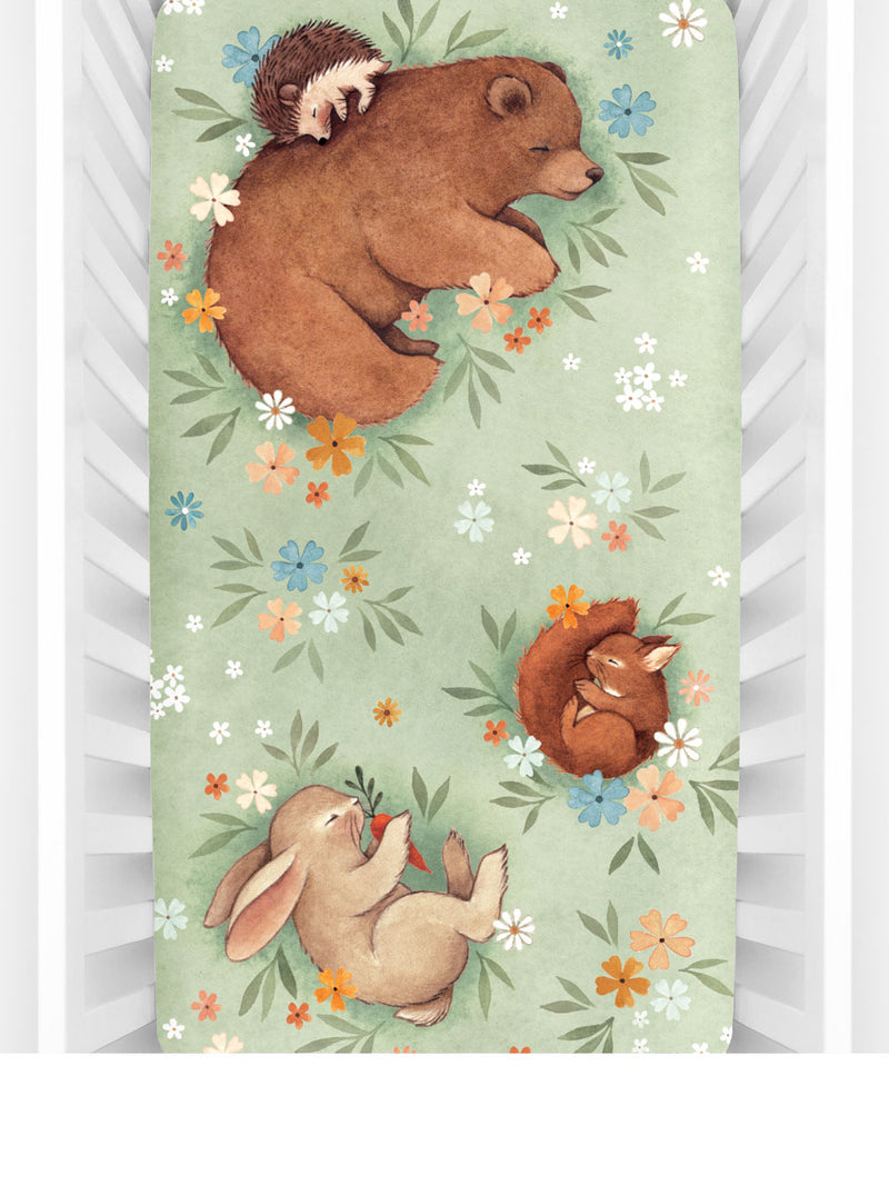 Fitted Cot Sheet - Enchanted Meadow