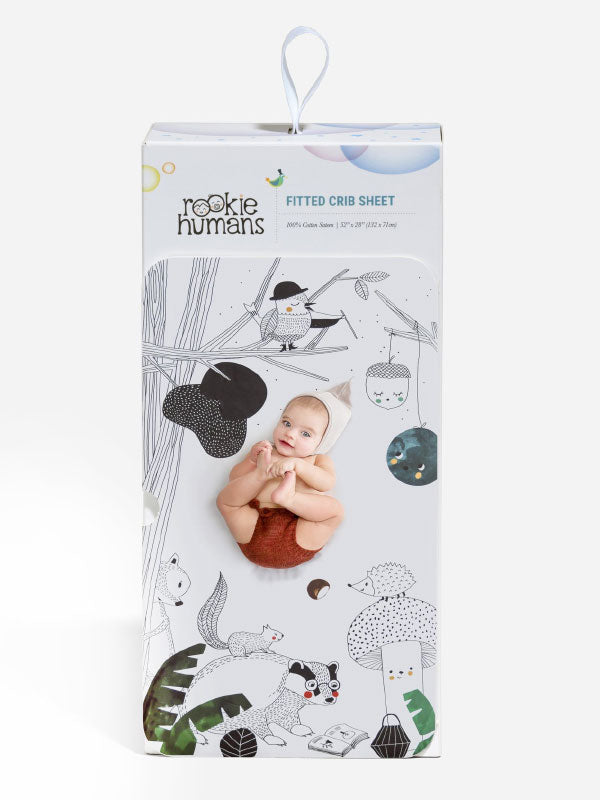 Rookie Humans Fitted Cot Sheet - Woodland Dreams