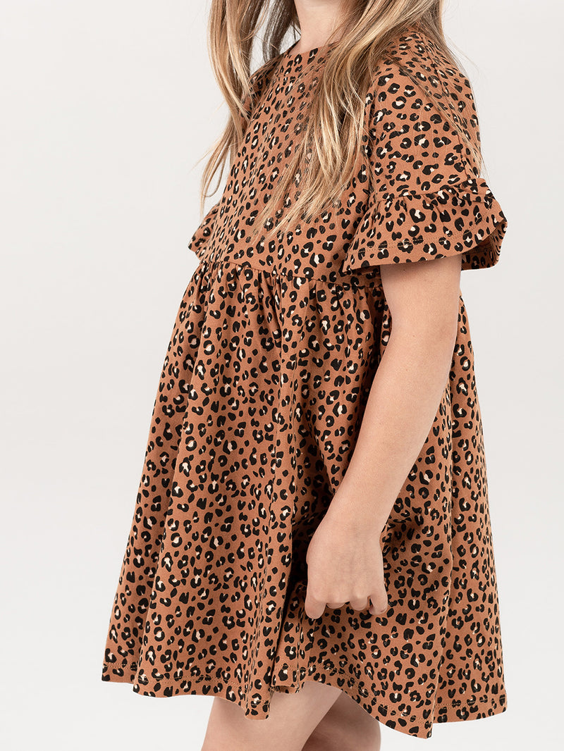 Rylee + Cru Babydoll Dress - Cheetah