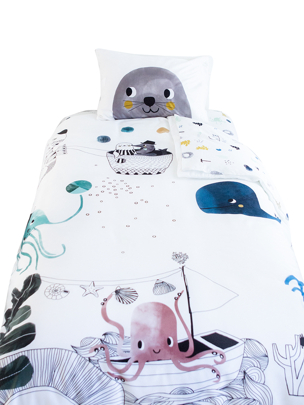 Rookie Humans Single Bedding Set - Underwater Love