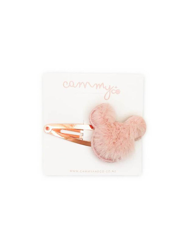 Fluffy Minnie Clip - Mauve
