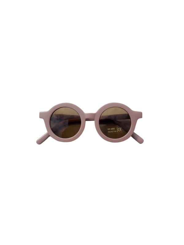 Grech & Co sunglasses in burlwood colourway, beautiful sustainably made sunglasses for children.