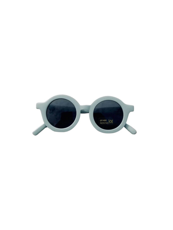 Grech & Co sunglasses in light blue colourway, beautiful sustainably made sunglasses for children.