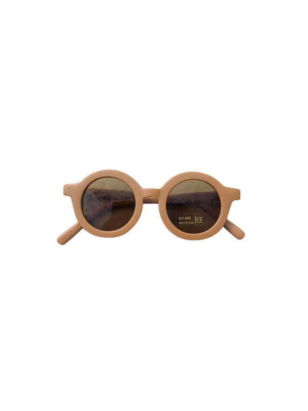 Grech & Co sunglasses in spice colourway, beautiful sustainably made sunglasses for children.