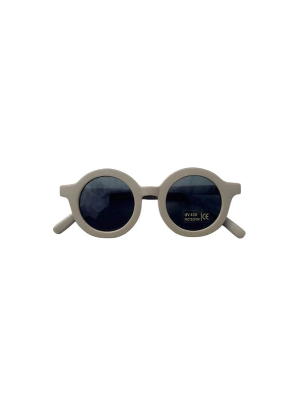 Grech & Co sunglasses in stone colourway, beautiful sustainably made sunglasses for children.