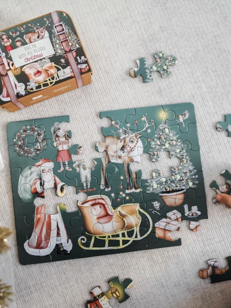 Modern Monty Christmas 'Take Me With You' Puzzle