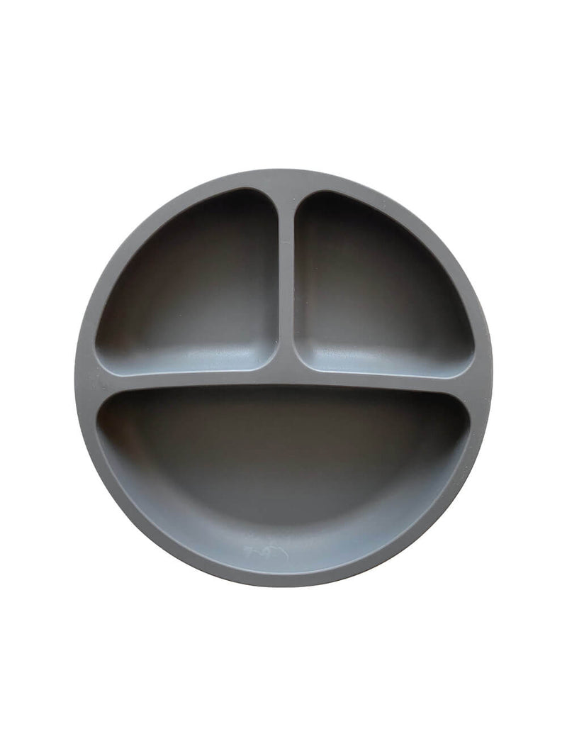 Petite Eats Silicone Suction Plate - Charcoal