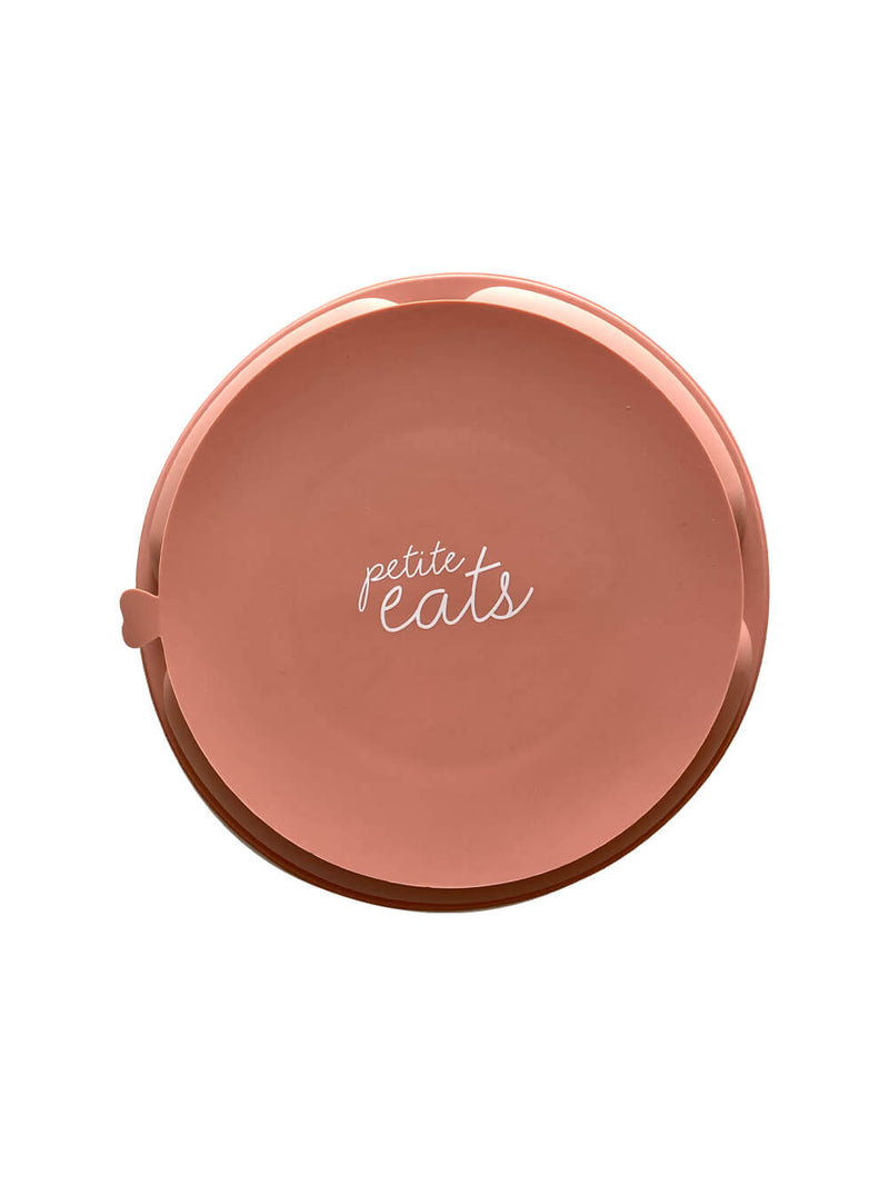 Petite Eats Silicone Suction Plate - Dusty Coral