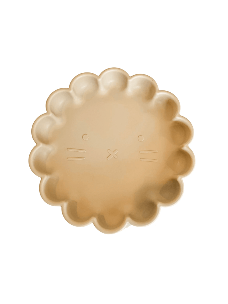Petite Eats Silicone Suction Lion Plate - Sand