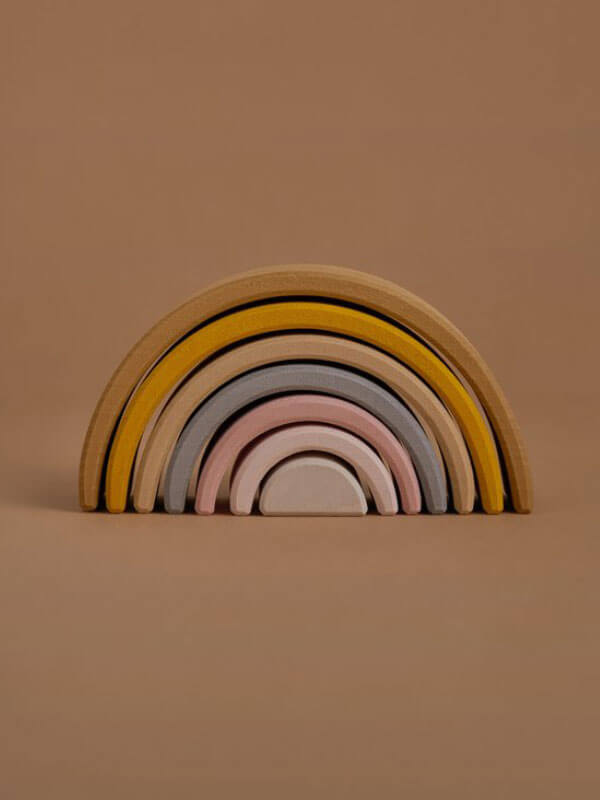 Raduga Grez - Small Wooden Stacking Rainbow - Golden