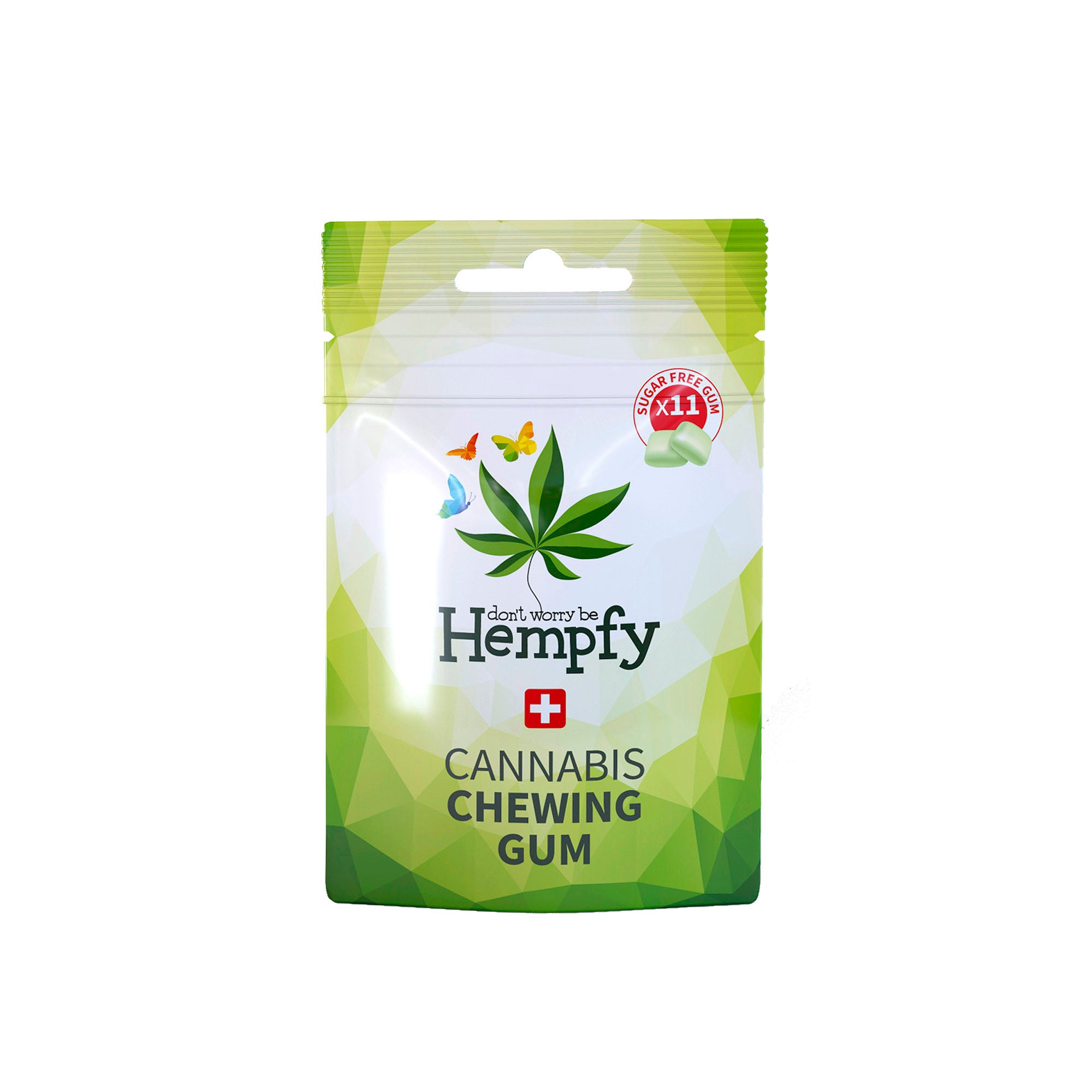 Hempfy chewing gum, box of 14 pouches