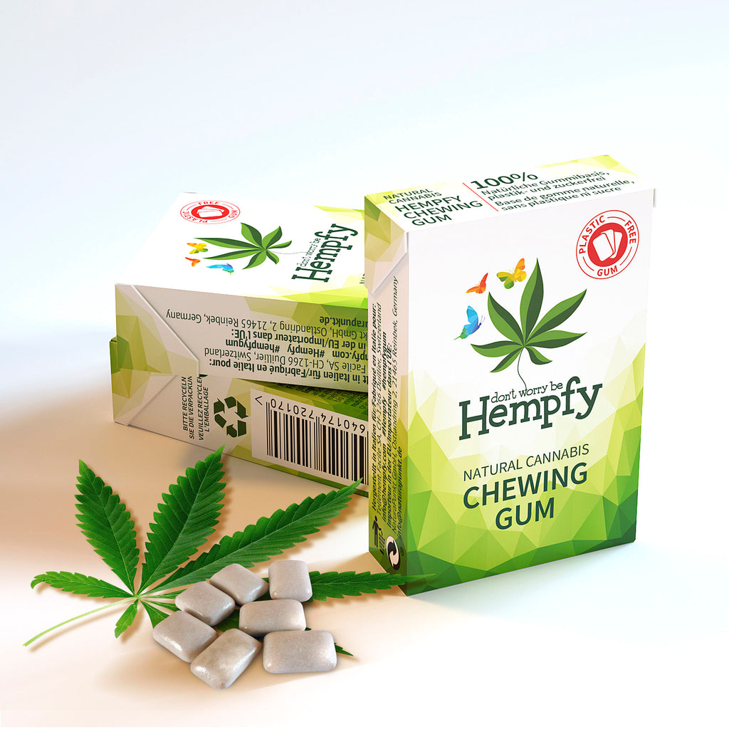Hempfy natural chewing gum, trial set 6 boxes