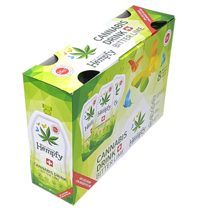 Hempfy Bitter Lime drink, 200 ml, box of 8 pouches