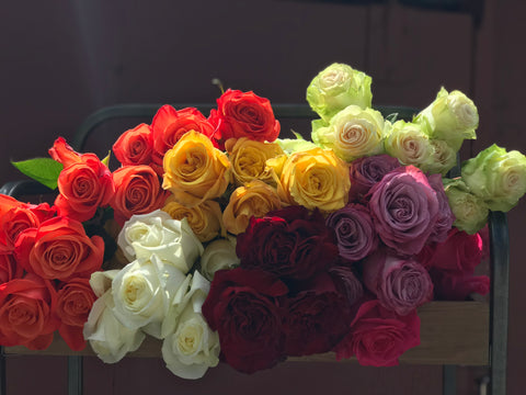 Roses: 125 Stems/$0.84 Per Stem (BULK)